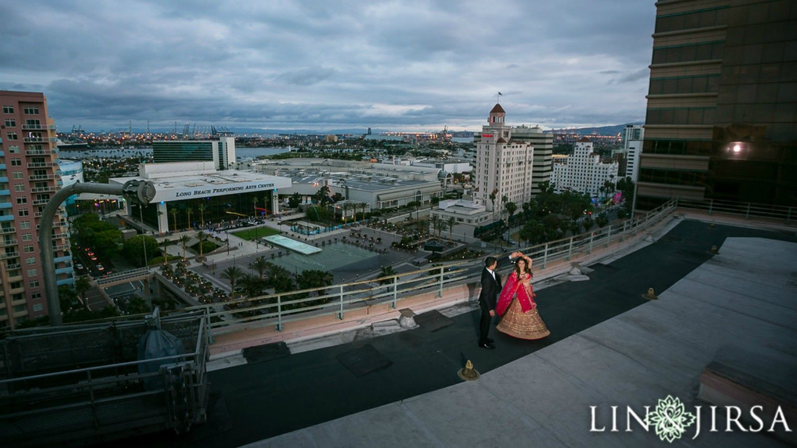 Cultural Wedding Reception - Rooftop Wedding Photos