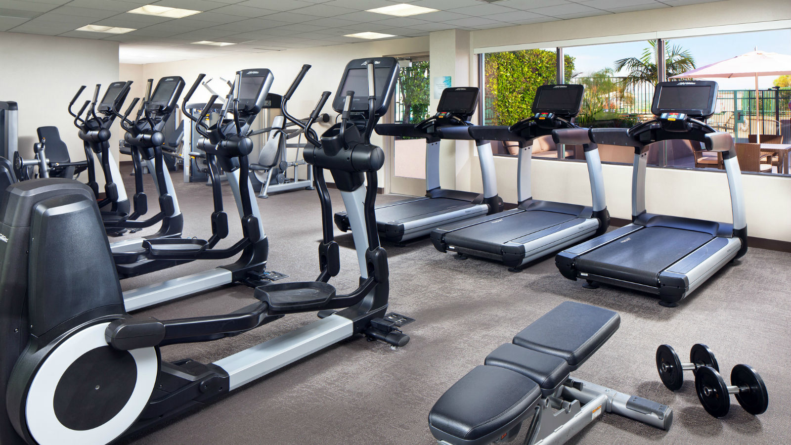 Long Beach Hotel Features - Westin Workout Fitness Studio